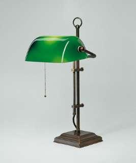 Berliner Messinglampen Artikel von Berliner Messinglampen Bankers Lamp Tischleuchte Glas grün W2-99gr A