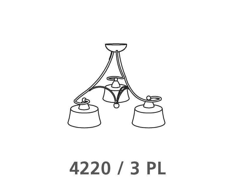 Deckenleuchte 4220 /  3 Flammig von Via Dese LAM Leuchten