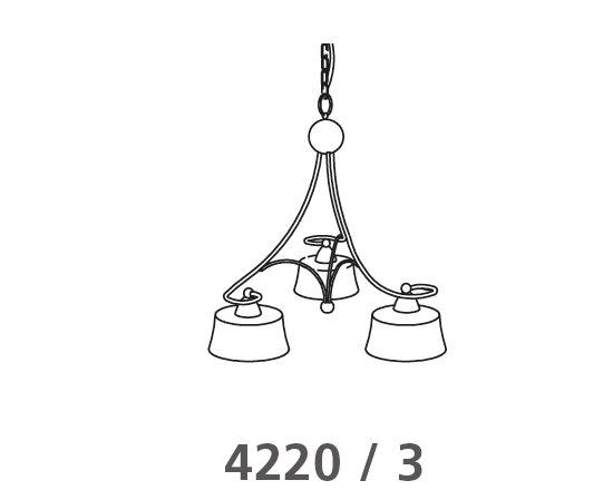 Hängeleuchte 4220 /  3 Flammig von Via Dese LAM Leuchten