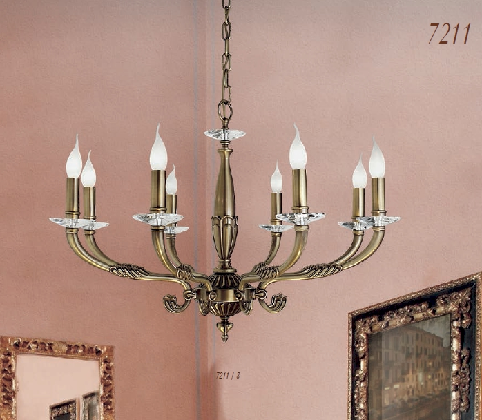 Via Dese Leuchten Artikel von Via Dese LAM Leuchten Hängeleuchte 7211 / 8 Flammig 7211/008/AA/A1