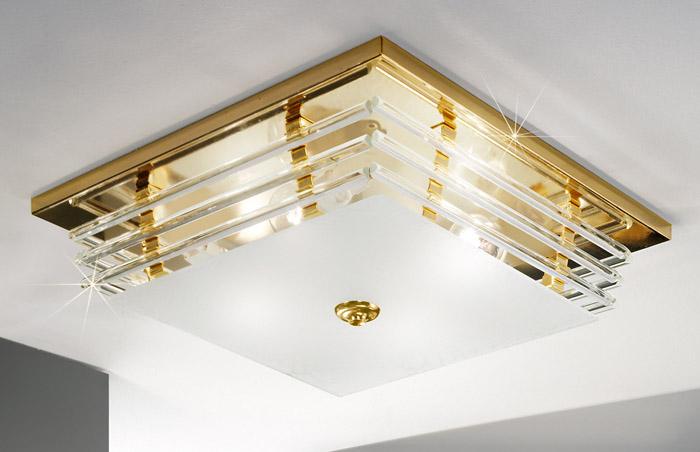 für die Küche von KOLARZ Leuchten Austrolux Deckenleuchte Ontario 24k Gold 0342.14.3