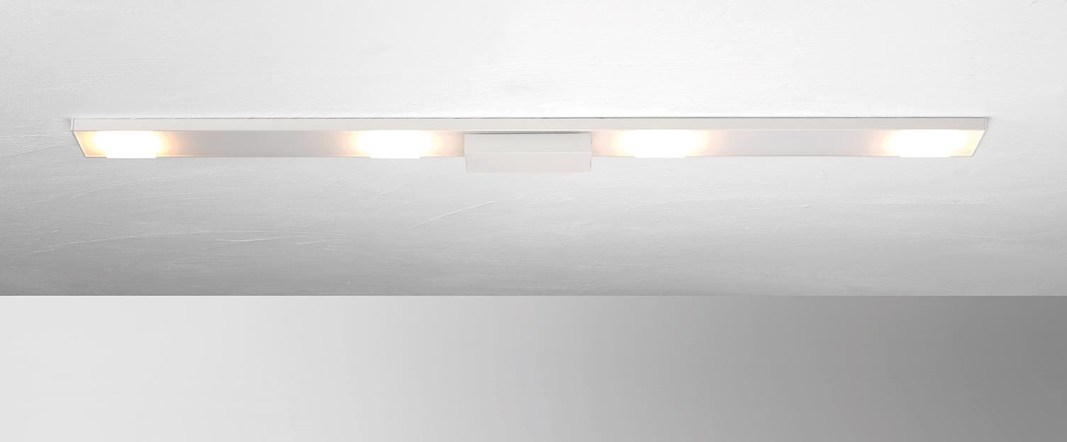 SLIGHT LED Deckenleuchte 4 flammig rechteckig