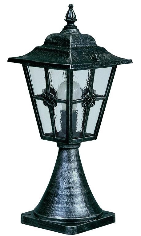 Bodenleuchten von Albert Leuchten Sockelleuchte, Alu, schwarz-silber 600532