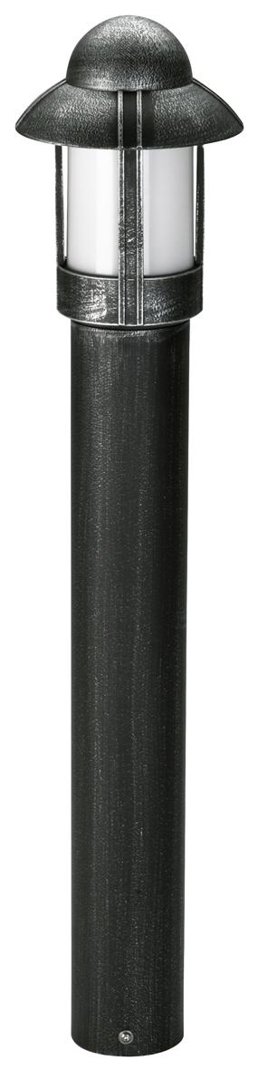 Aussenleuchten von Albert Leuchten Pollerleuchte, Alu, schwarz-silber 602025