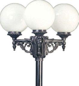Aussenleuchten von Albert Leuchten Mastleuchte, Alu, schwarz-silber 602050