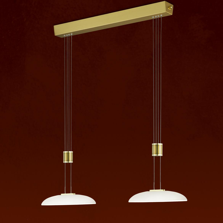 LED-Hängeleuchten von BANKAMP Leuchtenmanufaktur LED-Pendelleuchte Vetro 2045/2-01