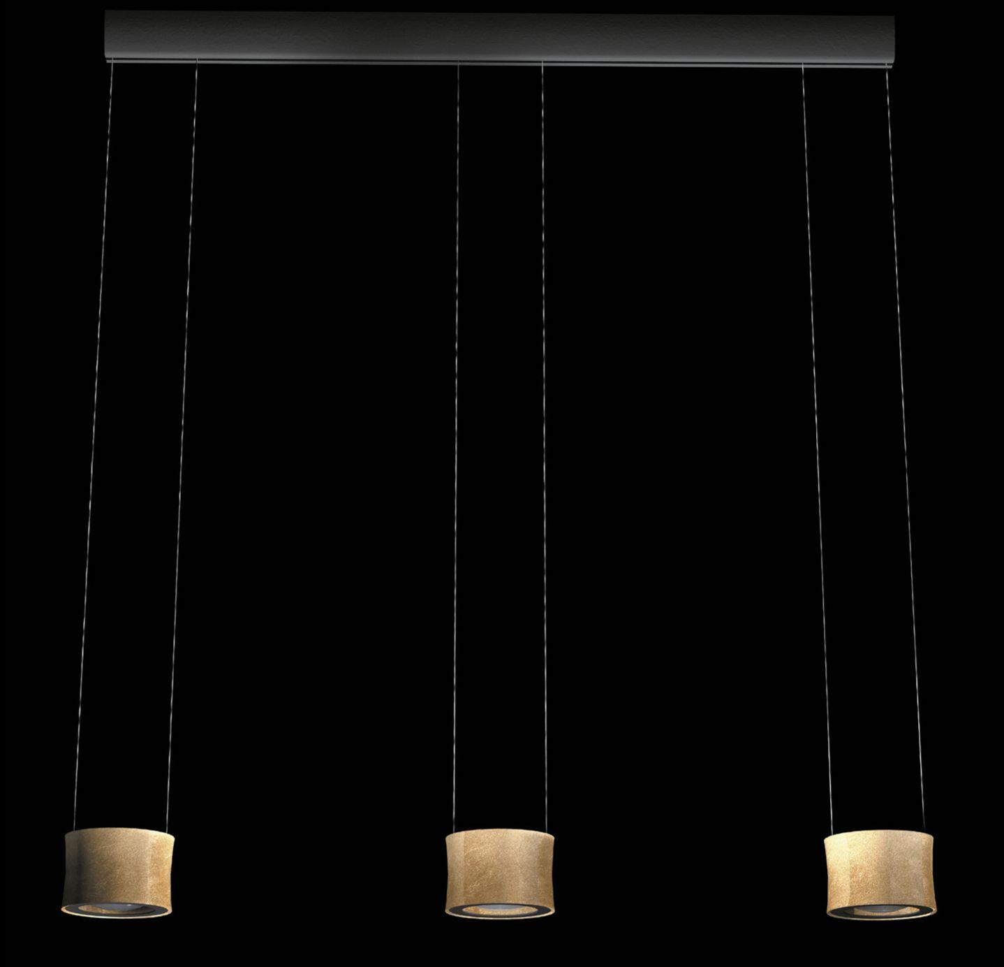 LED-Pendelleuchte Luce Elevata Impulse LED - Baldachin dunkelbraun ( auf Wunsch weiß )