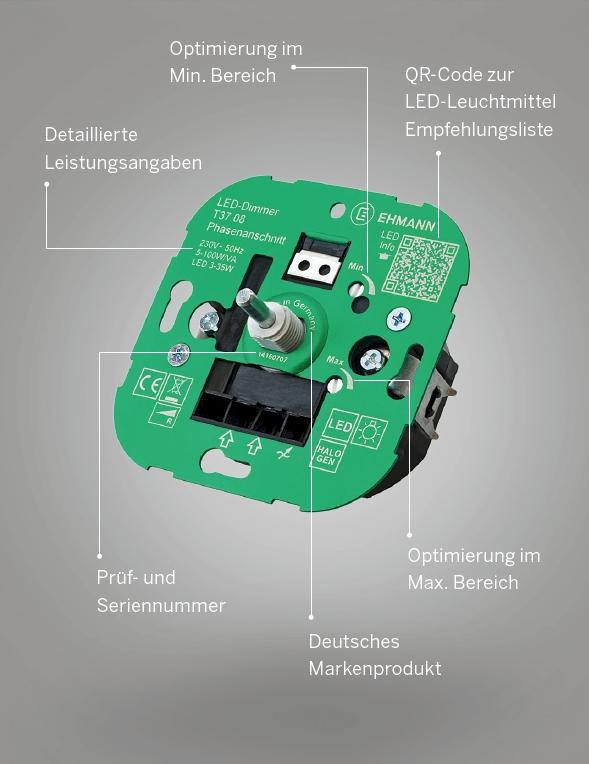LED-KINGDimmer für LED 5-150W, PhasenabschnittT46.08