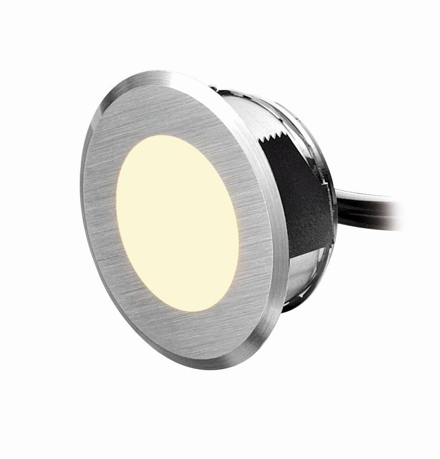 mini-disc LED Akzentlicht/ Lichtfarbe warmweiß, Einbautiefe 15 mm mit Schraubgewinde von dot-spot