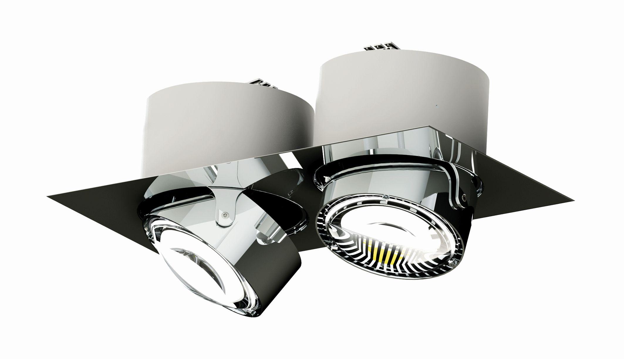 Deckenleuchten von Top Light Leuchten Deckeneinbauleuchte Puk Inside Twin + G9 Fassung + LED Retrofit 7-73007-H