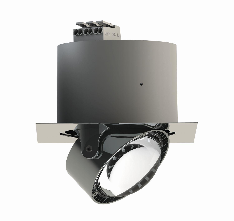 Einbauleuchten von Top Light Leuchten Deckeneinbauleuchte Puk Inside quadratisch + LED 7-72001