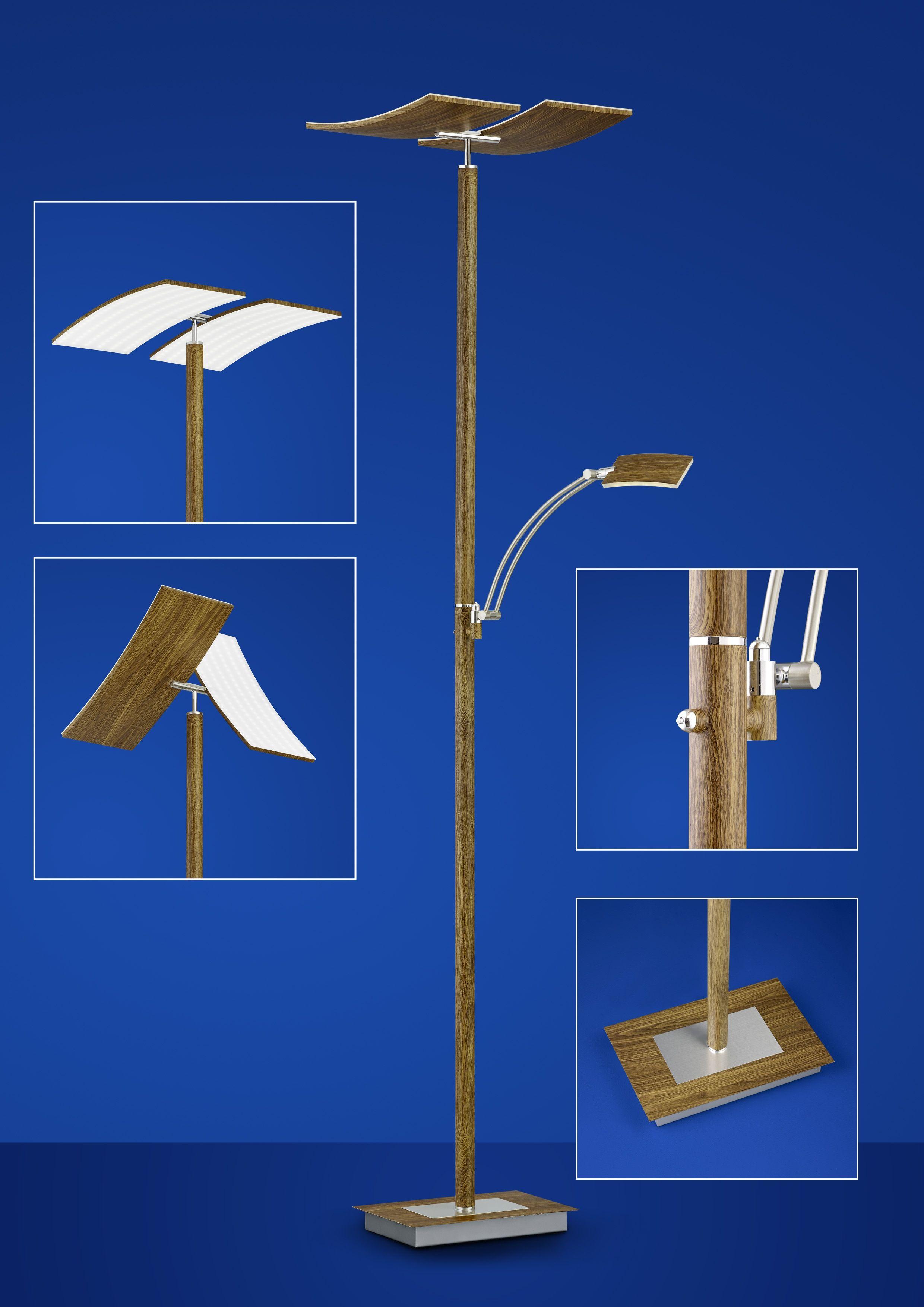 Stehleuchten von B-Leuchten LED-Stehleuchte Duo 60245/2-80