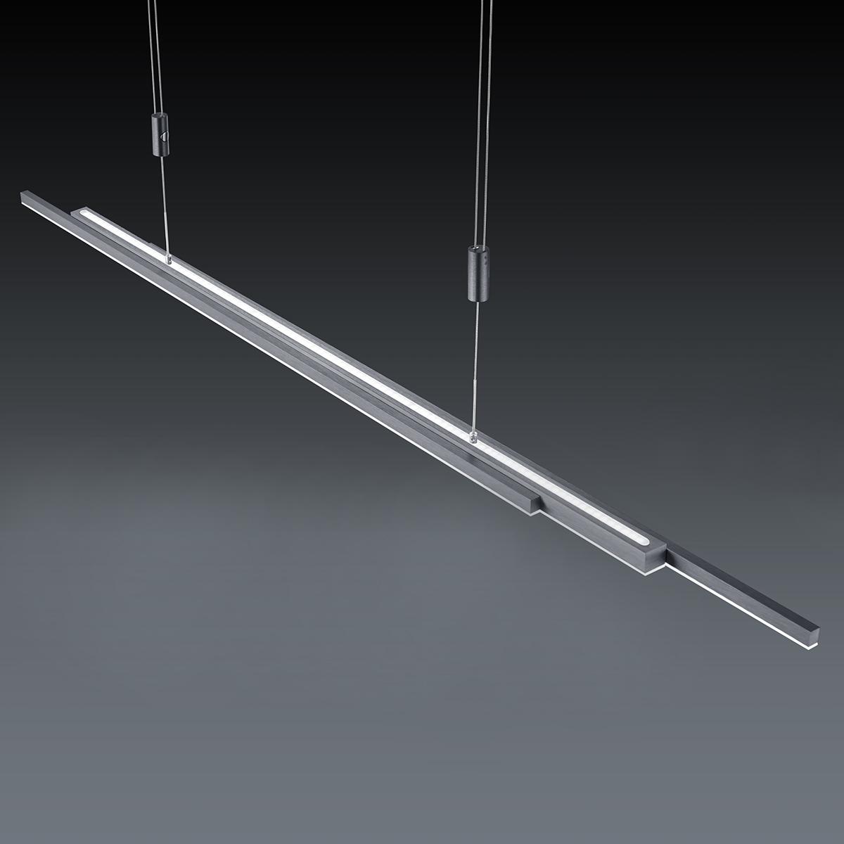 LED-Hängeleuchten von BANKAMP Leuchtenmanufaktur LED-Pendelleuchte L-lightline/ up and down 2154/1-39