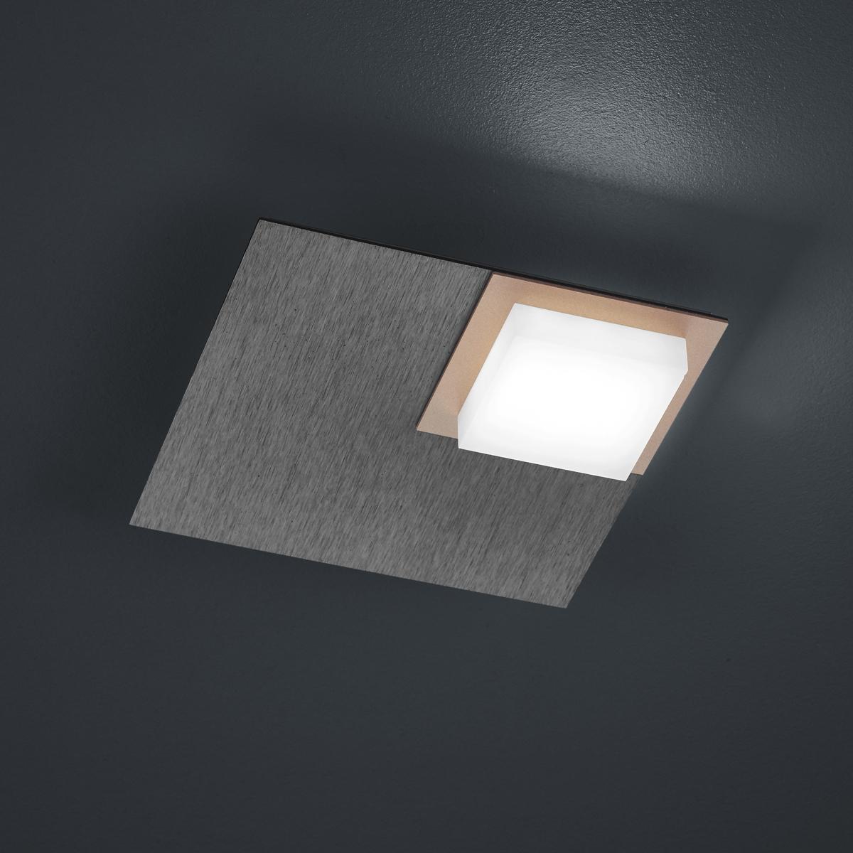 LED-Deckenleuchten von BANKAMP Leuchtenmanufaktur LED-Deckenleuchte Quadro 7703/1-39