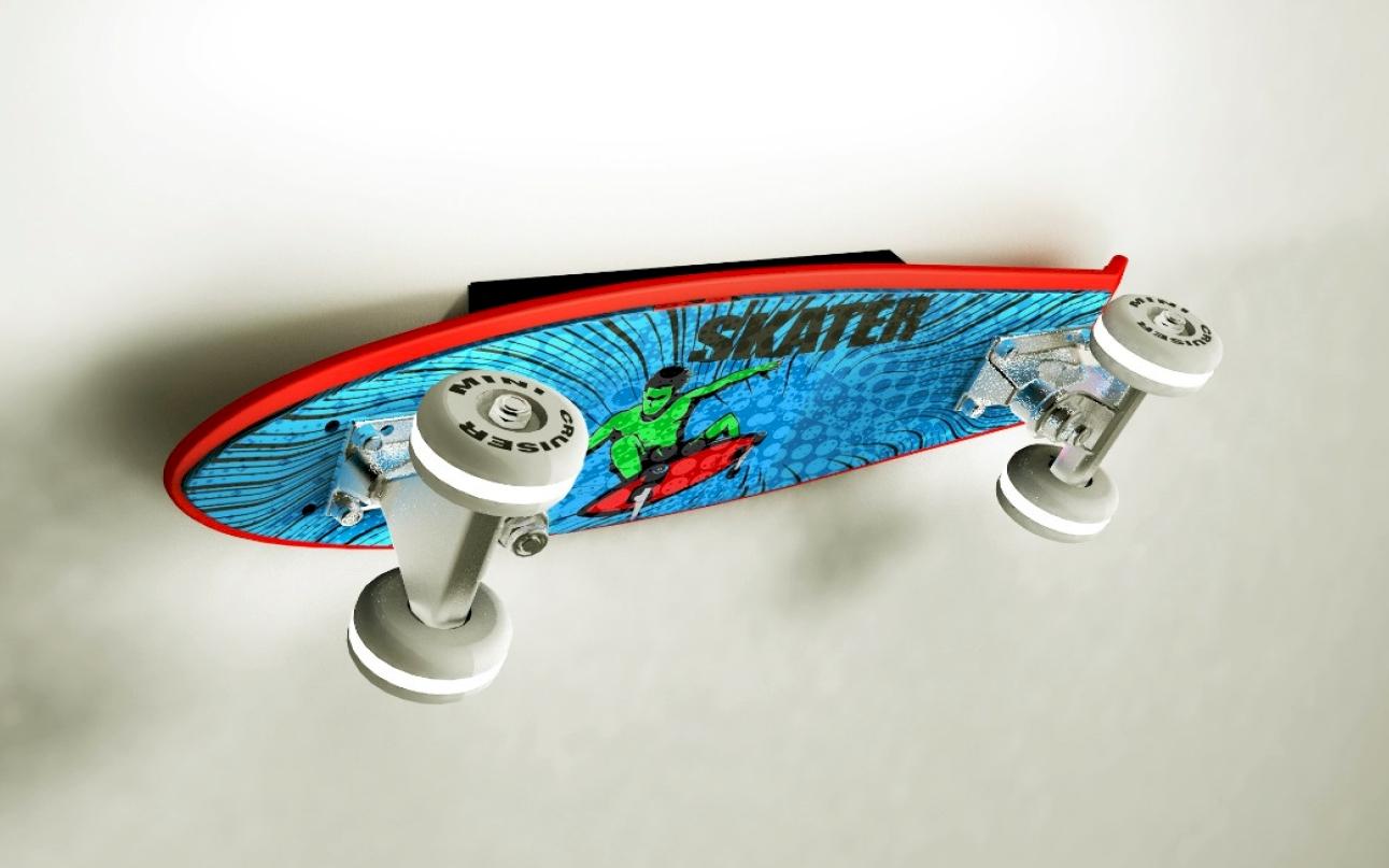 Skateboard LED-Wandleuchte Mini-Cruiser 6,5 W