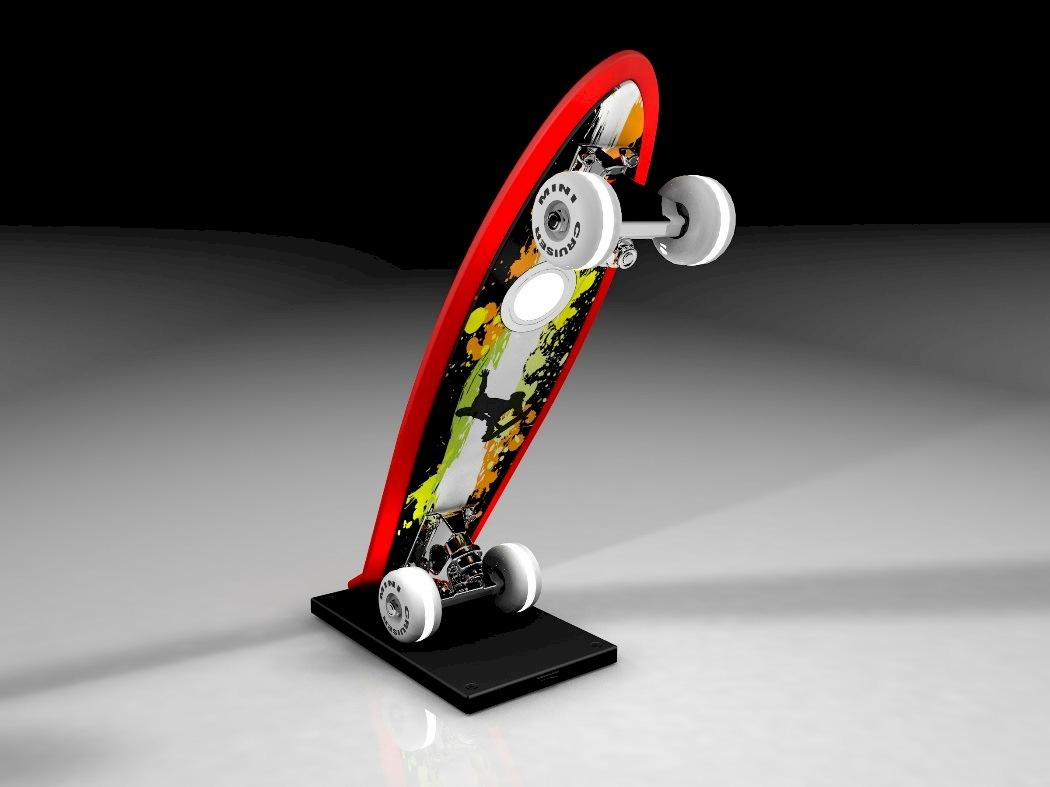 Skateboard LED-Tischleuchte Mini-Cruiser 7 W