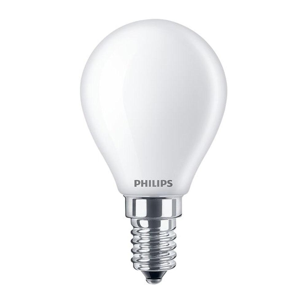 Standard E14 von UNI-Elektro Philips Classic LEDlustre E14 P45 4.3W 827 Matt CLA LEDCandle ND 4.3-40W P45 E14 FR