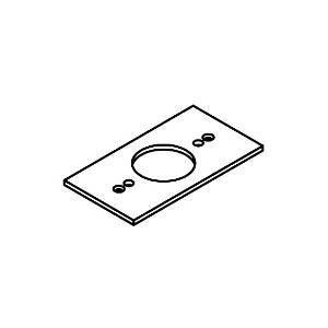 Montage - / Adapterplatte von Helestra Leuchten