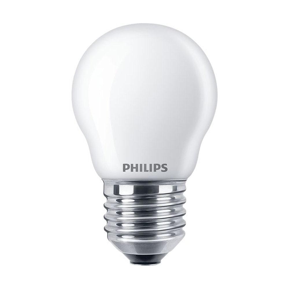 Standard E27 von UNI-Elektro Philips Classic LEDlustre E27 P45 4.3W 827 Matt CLA LEDCandle ND 4.3-40W P45 E27 FR