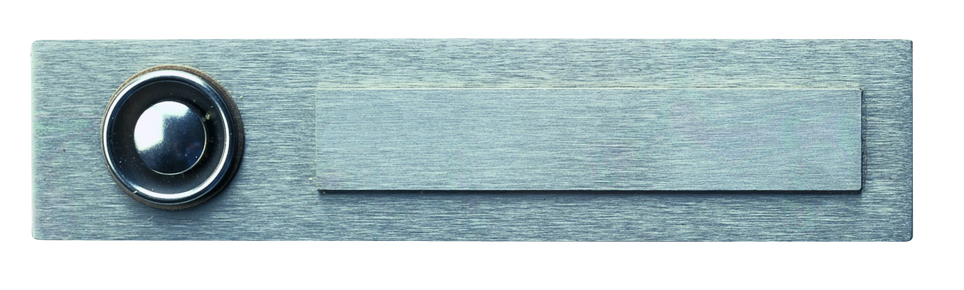 Klingelschilder von Albert Leuchten Klingelplatte, 1-fach, Edelstahl 690940