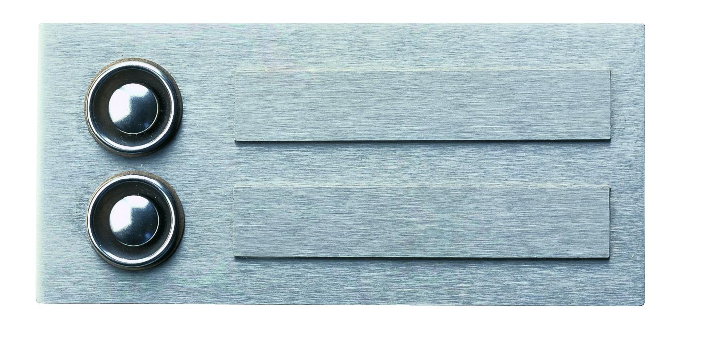Klingelschilder von Albert Leuchten Klingelplatte, 2-fach, Edelstahl 690941