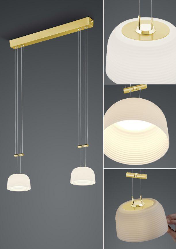 LED-Pendelleuchte Nelia/ 2 flammig von BANKAMP Leuchtenmanufaktur