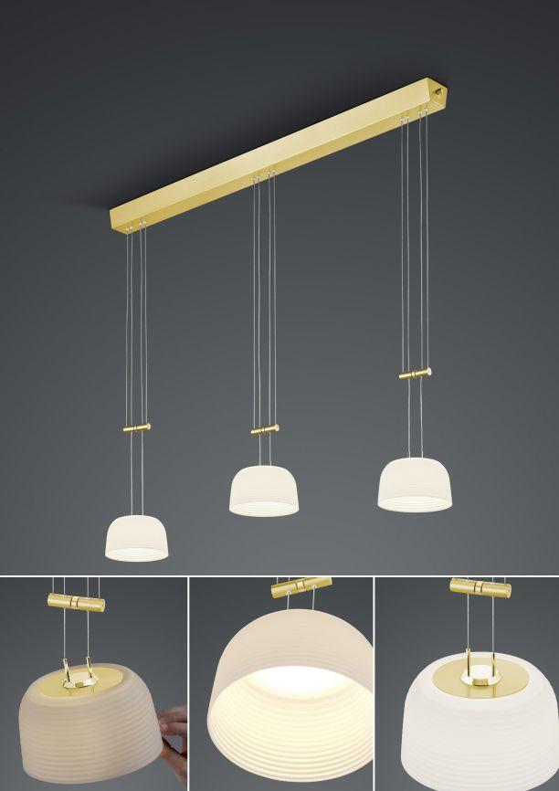 LED-Pendelleuchte Nelia/ 3 flammig von BANKAMP Leuchtenmanufaktur