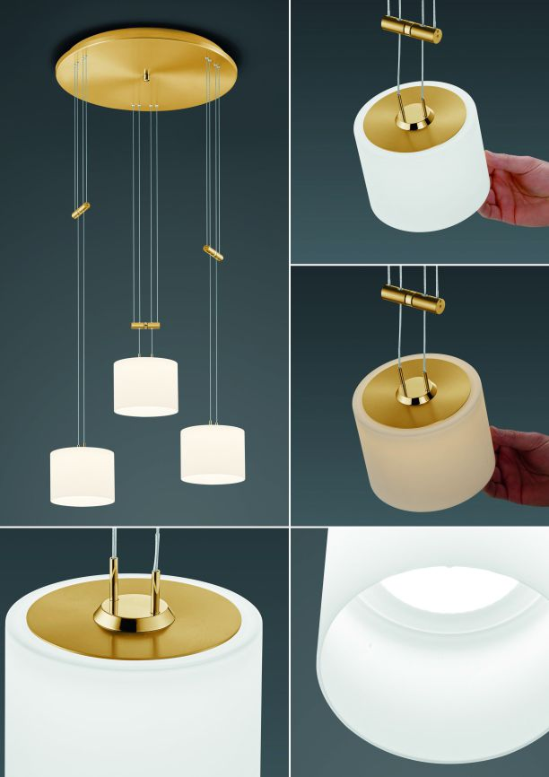 LED-Pendelleuchte Grazia/ 3 flammig von BANKAMP Leuchtenmanufaktur