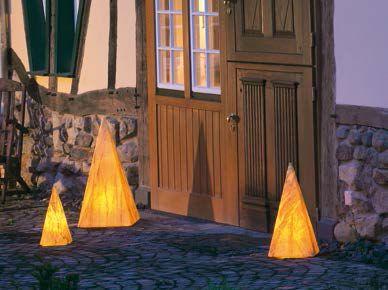 Leuchtobjekte von EPSTEIN Design Leuchten Sahara Pyramide 54 cm 10065