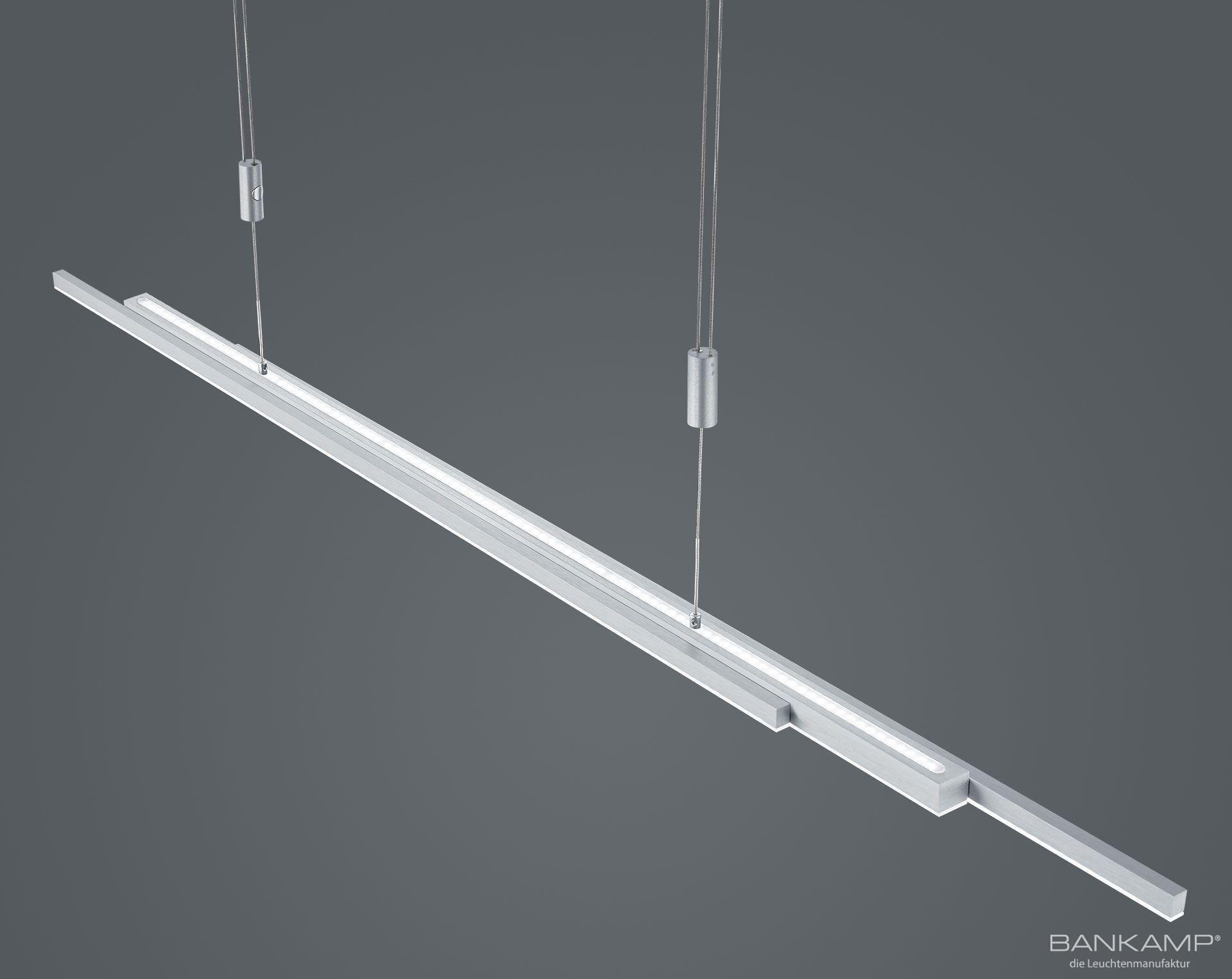 BANKAMP Leuchtenmanufaktur Artikel von BANKAMP Leuchtenmanufaktur LED-Pendelleuchte L-lightline/ up and down 2154/1-39