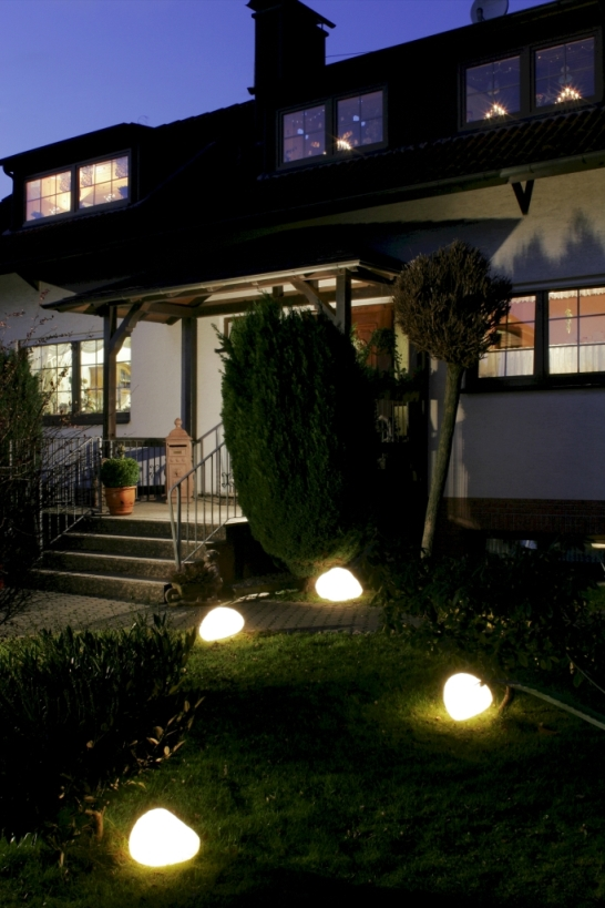 Leuchtobjekte von EPSTEIN Design Leuchten Steinleuchte 47 cm Durchmesser alabastaweiss 80505