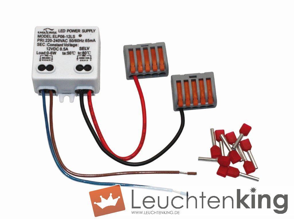 dot-spotNetzteil 12 V DC, 6 W, zur Montage in UP-Dose, Set mit Anschlussklemme und Aderendhülsen, für 24 Akzentlichtpunkte, Artikelnummer alt: 2050.99.99.9290104
