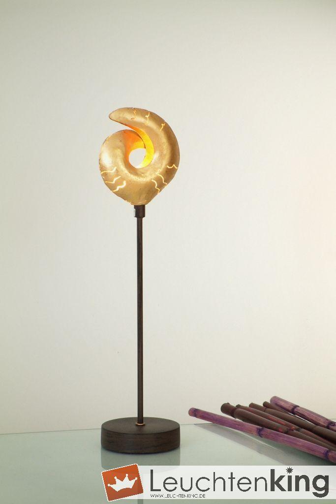 Holländer 300 K 12131 Tischleuchte Piccola Sole Eisen Braun-Schwarz-Gold