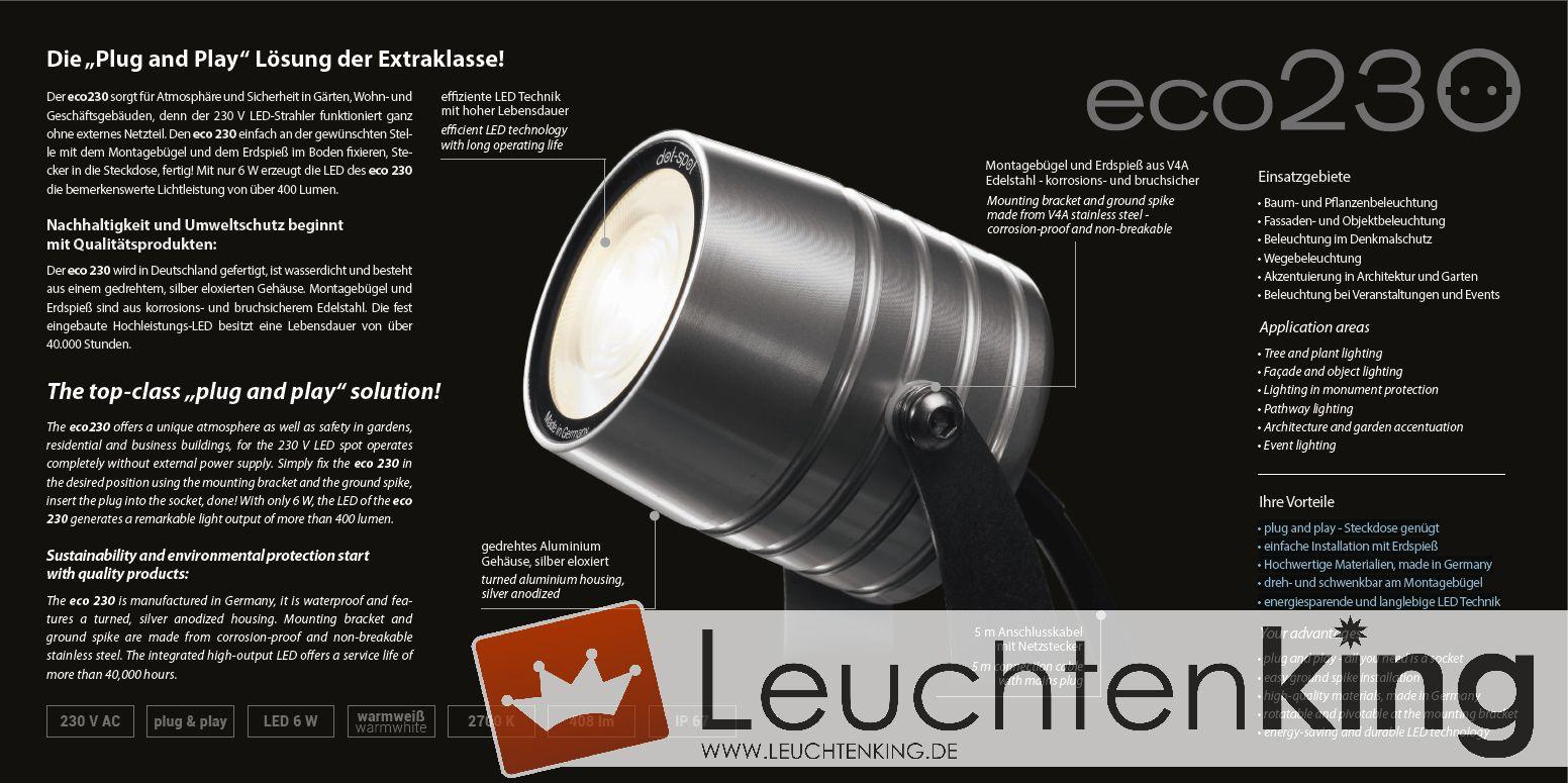 Dot Spot Led Strahler Eco230 6w 408lm Warmweiß 26000 Leuchtenking